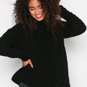 River Island Cable Jumper Poolopusero Black
