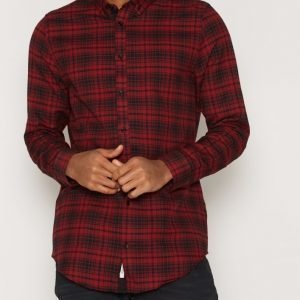 River Island Check Longline Kauluspaita Red
