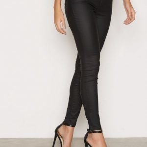 River Island Coated Jeggings Housut Black