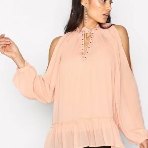 River Island Cold Shoulder Blouse Juhlapaita Pink