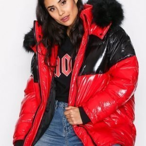 River Island Colourblock Puffa Jacket Untuvatakki Red