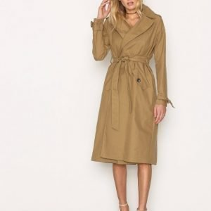River Island Cotton Trench Trenssitakki Camel
