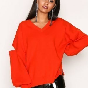River Island Decon Neck Jumper Neulepusero Red