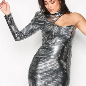 River Island Disco Bodycon Dress Kotelomekko Hopea