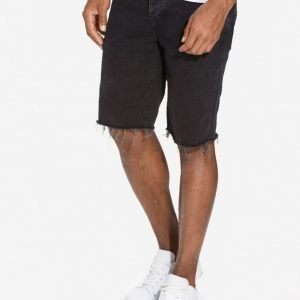 River Island Distressed Hem Slim Shortsit Black