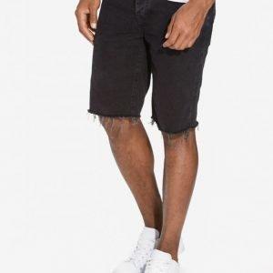 River Island Distressed Hem Slim Shortsit Black