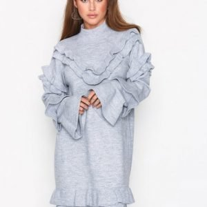 River Island Frill Dress Kotelomekko Grey