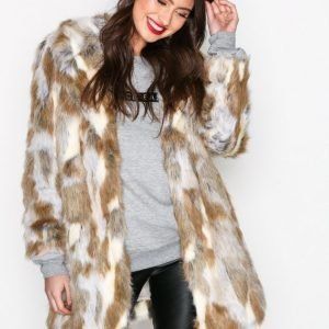 River Island Fur Jacket Tekoturkki Neutral