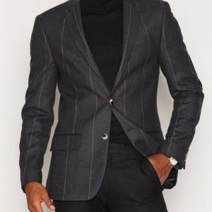 River Island Giant Check Teal Suit Jacket Bleiseri Teal