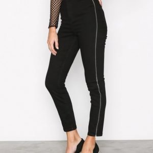River Island Going Out Zip Jeans Skinny Farkut Black