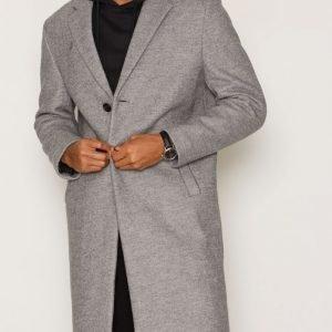 River Island Grant Overcoat Takki Grey