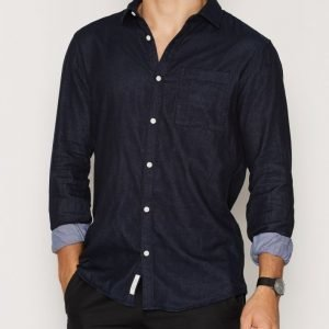 River Island LS Double Face Shirt Kauluspaita Navy