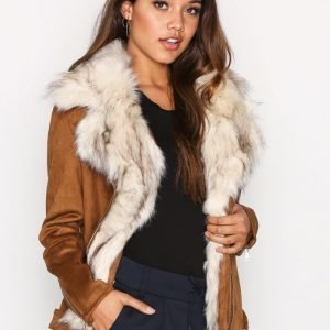 River Island Lightweight Pu Jacket Tekoturkki Tan