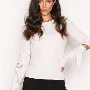 River Island Ls D Ring Top Pitkähihainen Paita Light Grey