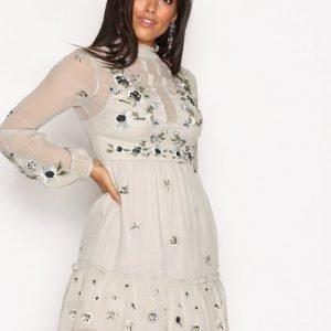 River Island Ls Julia Dress Loose Fit Mekko Light Grey
