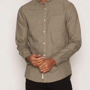 River Island Ls Oxford Shirt Kauluspaita Khaki