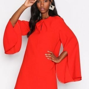 River Island Ls Swing Dress Loose Fit Mekko Red