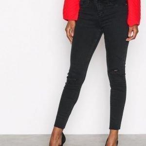 River Island Molly Wilson Jeans Skinny Farkut Washed Black