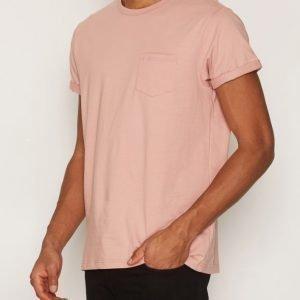 River Island Pocket Roll Sleeve Tee T-paita Pink