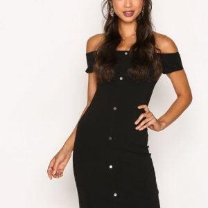 River Island Popper Dress Juhlamekko Black