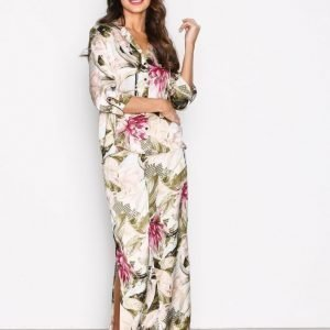 River Island Printed Sleepwear Set Pyjamasetti Cream