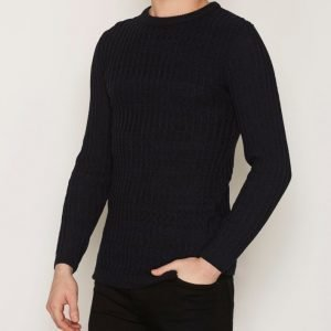 River Island Rathsman Twisted Rib Pusero Dark Blue