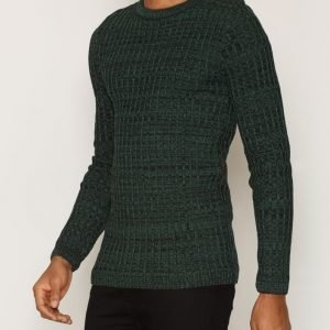 River Island Rathsman Twisted Rib Pusero Dark Green