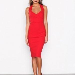 River Island Satin Mix Midi Dress Kotelomekko Red