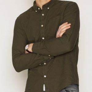 River Island Seven Oxford Shirt Kauluspaita Khaki