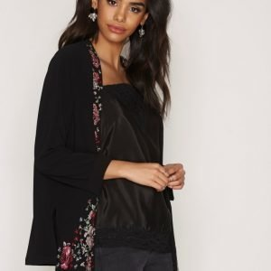 River Island Short Jacket Jakku Black Print