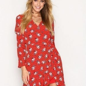 River Island Sless Dress Skater Mekko Red