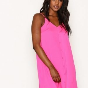 River Island Sless Neve Slip Dress Loose Fit Mekko Bright Pink