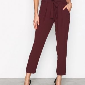 River Island Soft Tapered Trousers Housut Ox Blood