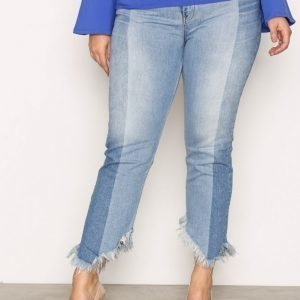River Island Splice Jean Jeans Loose Fit Farkut Mid Blue