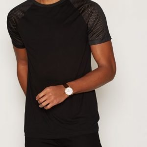 River Island Sporty Tape Raglan T-paita Black