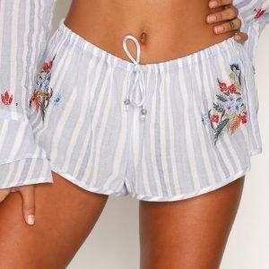 River Island Striped Embroidered Shorts Pyjamashortsit Blue Stripe