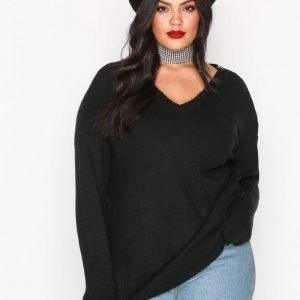 River Island Supersize Knit Jumper Neulepusero Black