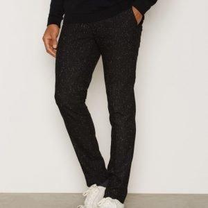 River Island Trousers Pukuhousut Black