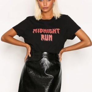 River Island Vinyl Mini Skirt Midihame Black