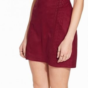 River Island Whipstitch Pelmet Short Skirt Minihame Berry