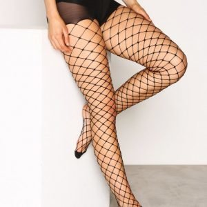 River Island Wide Fishnet Tights Sukkahousut Black