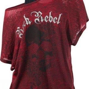 Rock Rebel By Emp 2 In1 Skull Bat Burnout Shirt Naisten T-paita