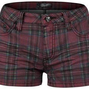 Rock Rebel By Emp Checked Hotpants Naisten Shortsit