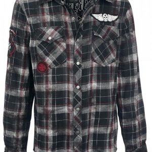 Rock Rebel By Emp Checkered Application Shirt Flanellipaita