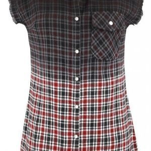Rock Rebel By Emp Checkered Dip Dye Shirt Lyhythihainen Naisten Pusero