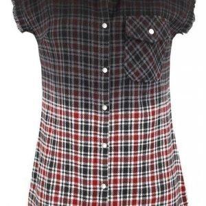 Rock Rebel By Emp Checkered Dip Dye Shirt Lyhythihainen Naisten Pusero