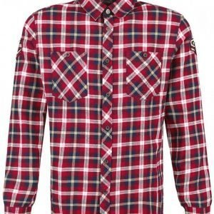 Rock Rebel By Emp Checkered Embroidery Shirt Kauluspaita