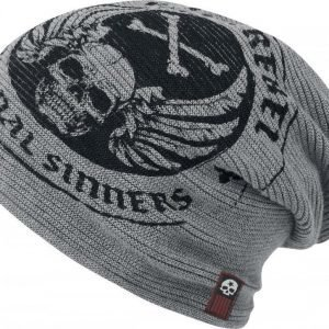 Rock Rebel By Emp Crossbones Beanie Pipo