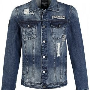 Rock Rebel By Emp Destroyed Denim Jacket Farkkutakki