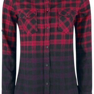 Rock Rebel By Emp Dip Dye Check Shirt Naisten Pusero